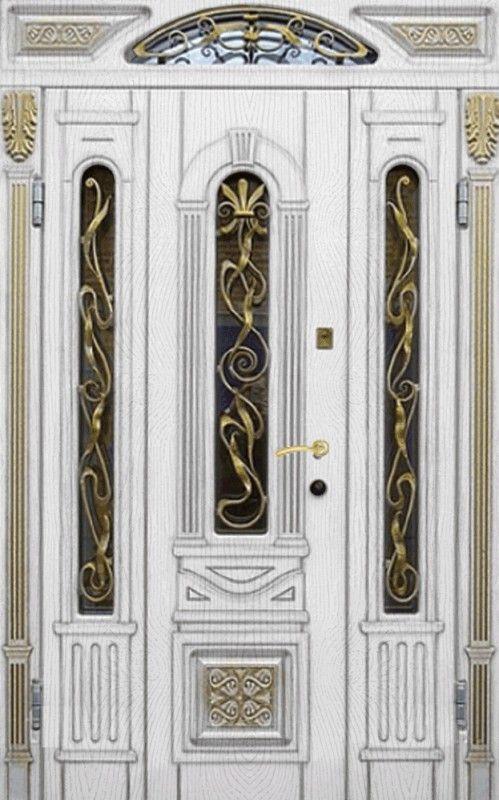 металлические двери под заказ полуторные в церковь металло филенчатые