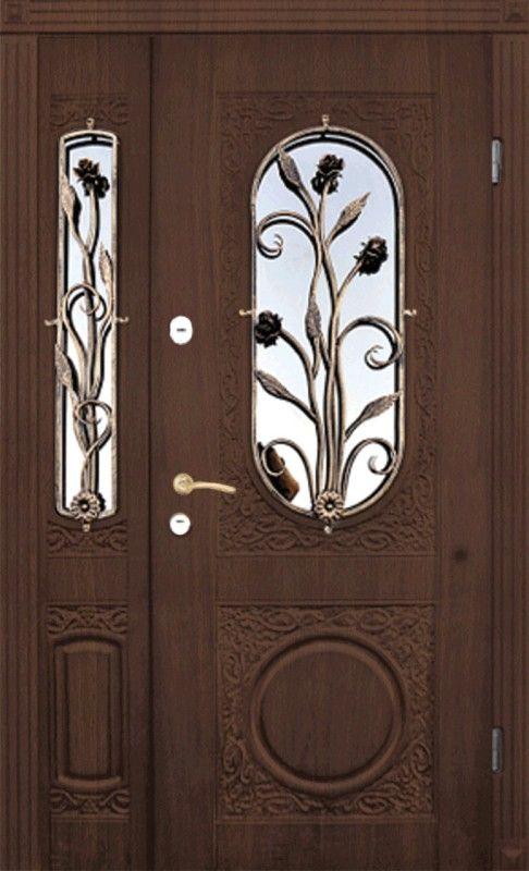 входные полуторные двери в частный дом